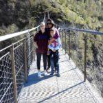 Ponte delle funi sul lago di Vagli